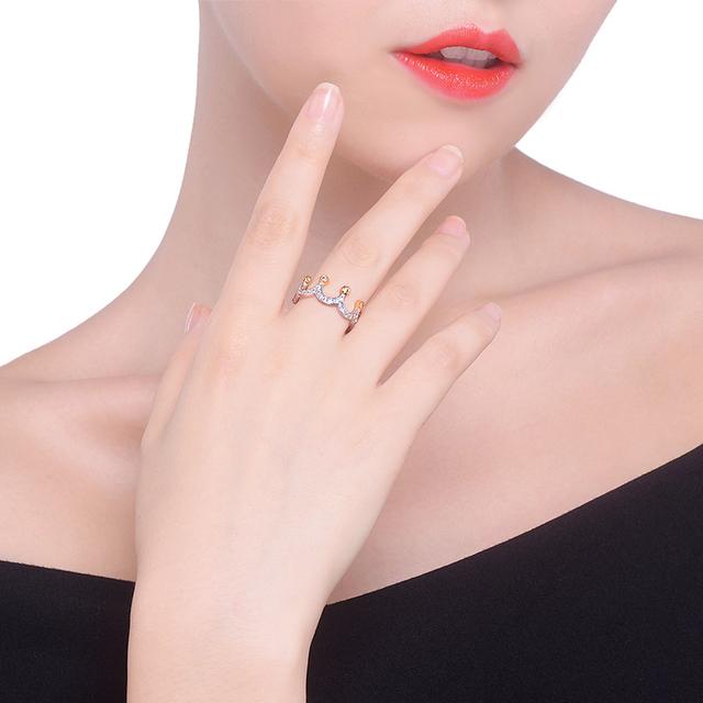 Women's Crown Shaped Zircon Ring