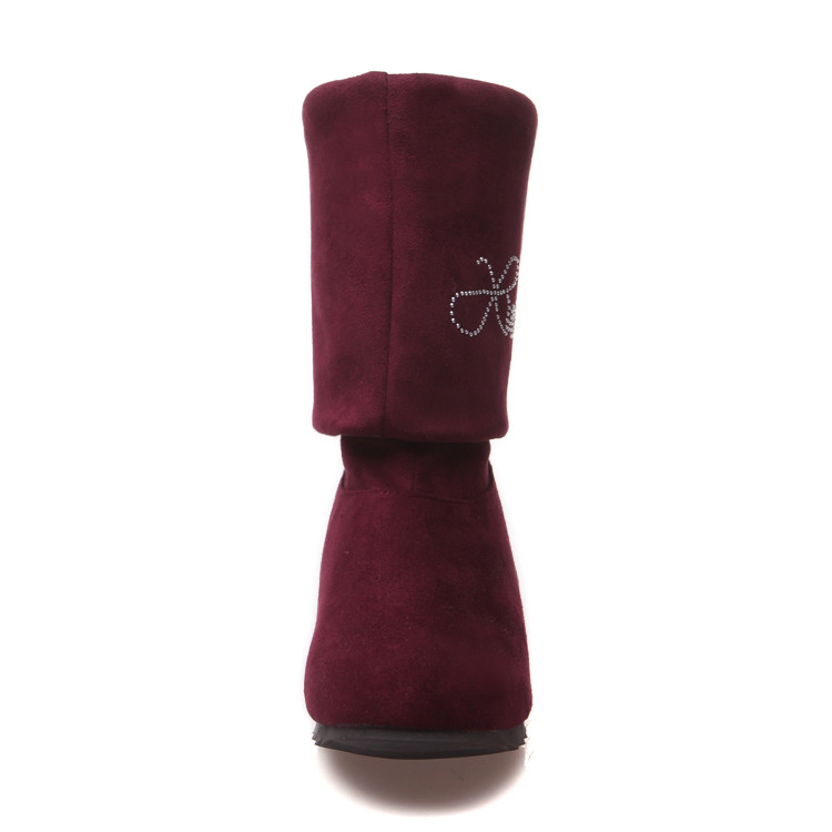 Big size 34-47 boots A pair of shoes to wear two style thigh high women femininas ankle boots zapatos mujer chauss Q6-3