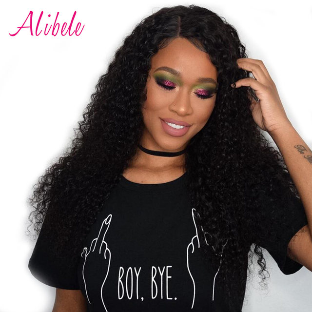 Alibele Malaysian Curly Hair 13 X 4 Ear To Lace Frontal Closure With