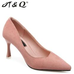 T q 2017 autumn women pumps 8cm pink sexy high heels shoes shallow pointed toe thin.jpg 250x250