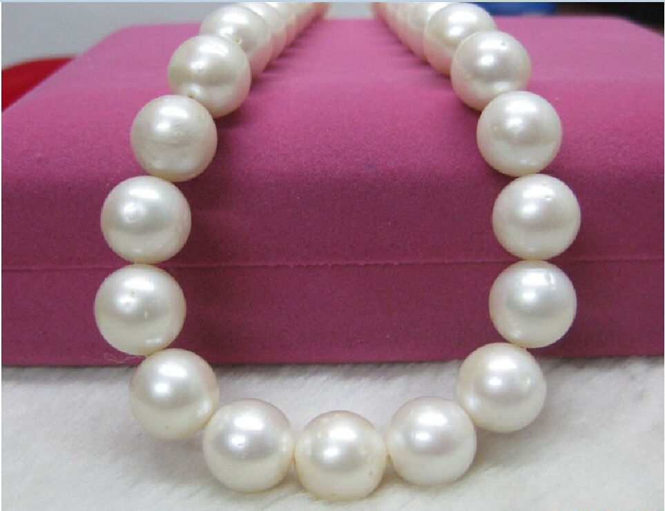 natural AAA 18 12-11mm genuine south sea White pearl necklacenatural AAA 18 12-11mm genuine south sea White pearl necklace
