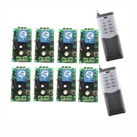 2000m DC 9V 12V 24V 8 CH 8CH RF Wireless Remote Control Switch System,8CH Transmitter + Receiver,315 / 433 MHz