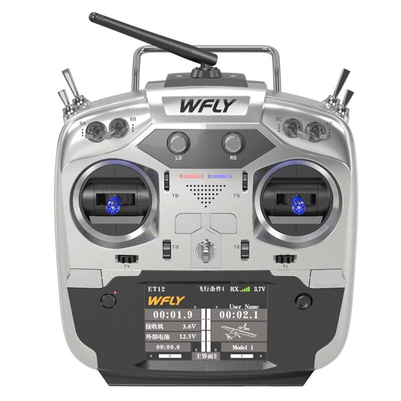 WFLY ET12 2.4 GHz 12CH télécommande prend en charge les serveurs 180/270 'avec récepteur RF209S pour les modèles FPV RC