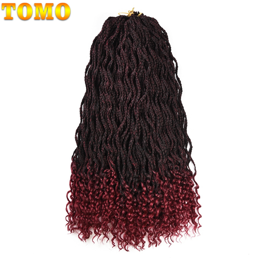 tomo crochet box braid hair 24strands