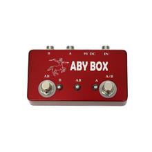 Fashion Red Color ABY Box Hand Made Footswitch ABY Effect Pedal Selector Foot Switch Effect Pedal Guitar Accessories