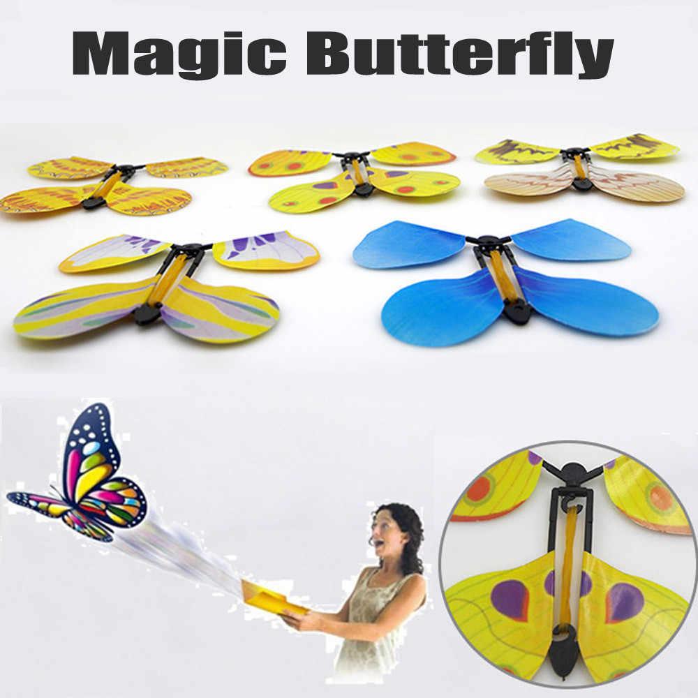 Tours de magie papillon volant magie transformer cocon en un tour de papillon volant Prop jouet twisty pet
