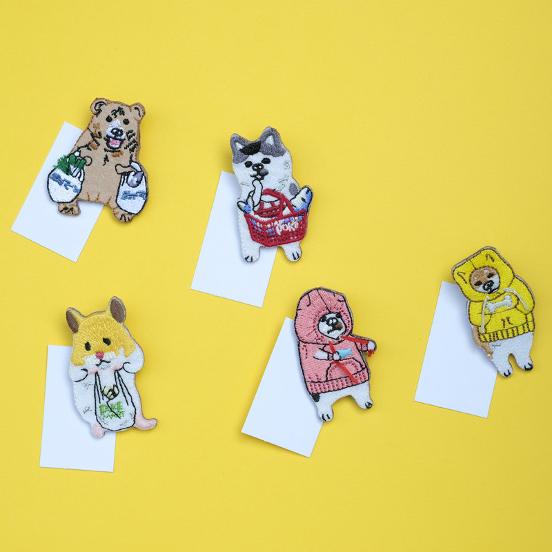 20pcs/lot Japanese Style Cartoon Animals Brooches Lion Fish Embroidery Pin For Kids Lapel Pin Hat/bag Pins Women Badge Sc4777 Home & Garden Apparel Sewing & Fabric
