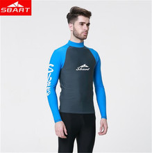 SBART Men Snorkeling Windsurf Rashguard Wetsuit Surf Swim Shirt Diving Tops Long Sleeve Swimsuit Surfing цена