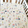 100% Cotton Baby Bed Sheet Winter Cartoon Thickened Crib Bedding  Nordic Style Baby Crib Sheet Breathable Newborn Bedding Set