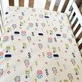 100% algodão folha de cama do bebê dos desenhos animados inverno engrossado estilo nórdico folha de berço do bebê respirável newborn crib bedding bedding set