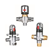 Thermostatic Mixing Valve Bathroom High Quality Brass Shower Thermostatic Faucet Constant Temperature Chrome Plated 3 Choose