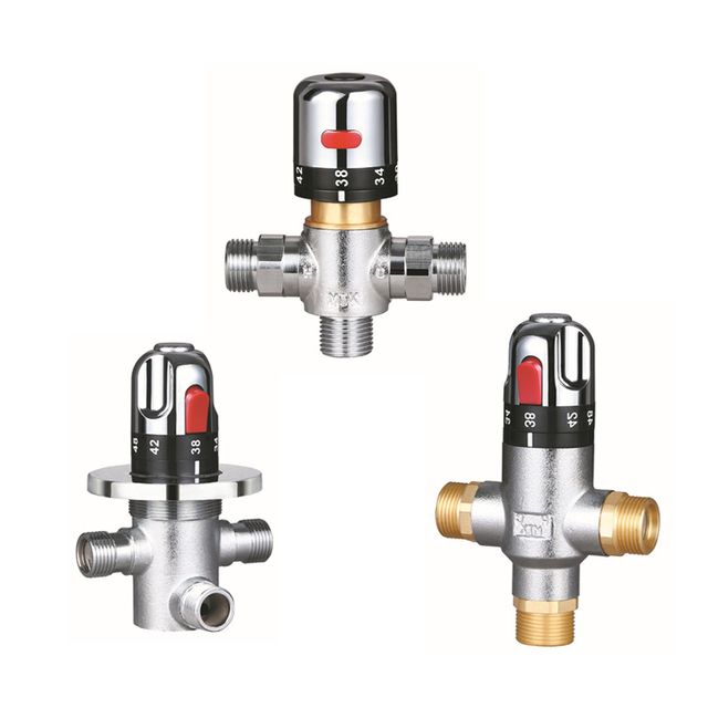 Thermostatic Mixing Valve Bathroom Quality Brass Shower
