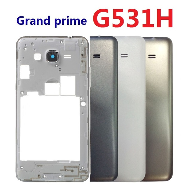 huge discount 119df 0c8d5 US $4.99  Housing Bezel Front Frame Chassis with Side Button +Back Rear  Battery Cover For Samsung Galaxy Grand Prime G531H G531H/DS G531F -in  Mobile ...