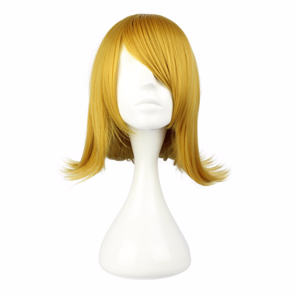 Mcoser Cosplay Womens Short Blonde Synthetic Hair Party Full 100% High Temperature Fiber Free Shipping 243a Good Reputation Over The World Synthetic None-lacewigs