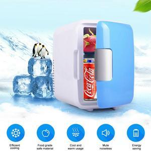 4L Car Refrigerator Automoble Mini fridge Refrigerators Freezer Cooling Box frigobar Food Fruit Storage geladeira portatil(China)