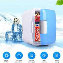 4L Car Refrigerator Low-noise Coolers Mini Portable Refrigerators Freezer Cooling Box frigobar Food Fruit Storage geladeira