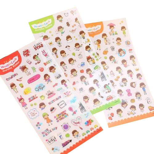 5PACK 6 PCS HOT Diary Decoration Scrapbooking Stickers PVC Stationery Planner Stickers  my happy life spring and fall leaves shape pvc environmental stickers decorative diy scrapbooking keyboard personal diary stationery stickers
