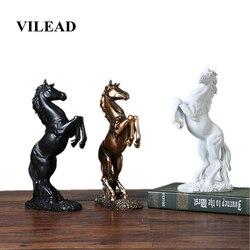 Vilead 12.4 resin resin estátua de cavalo resina sala estar artesanato ornamentos decorativos casa criativa cavalo para abertura bem sucedida presentes sorte