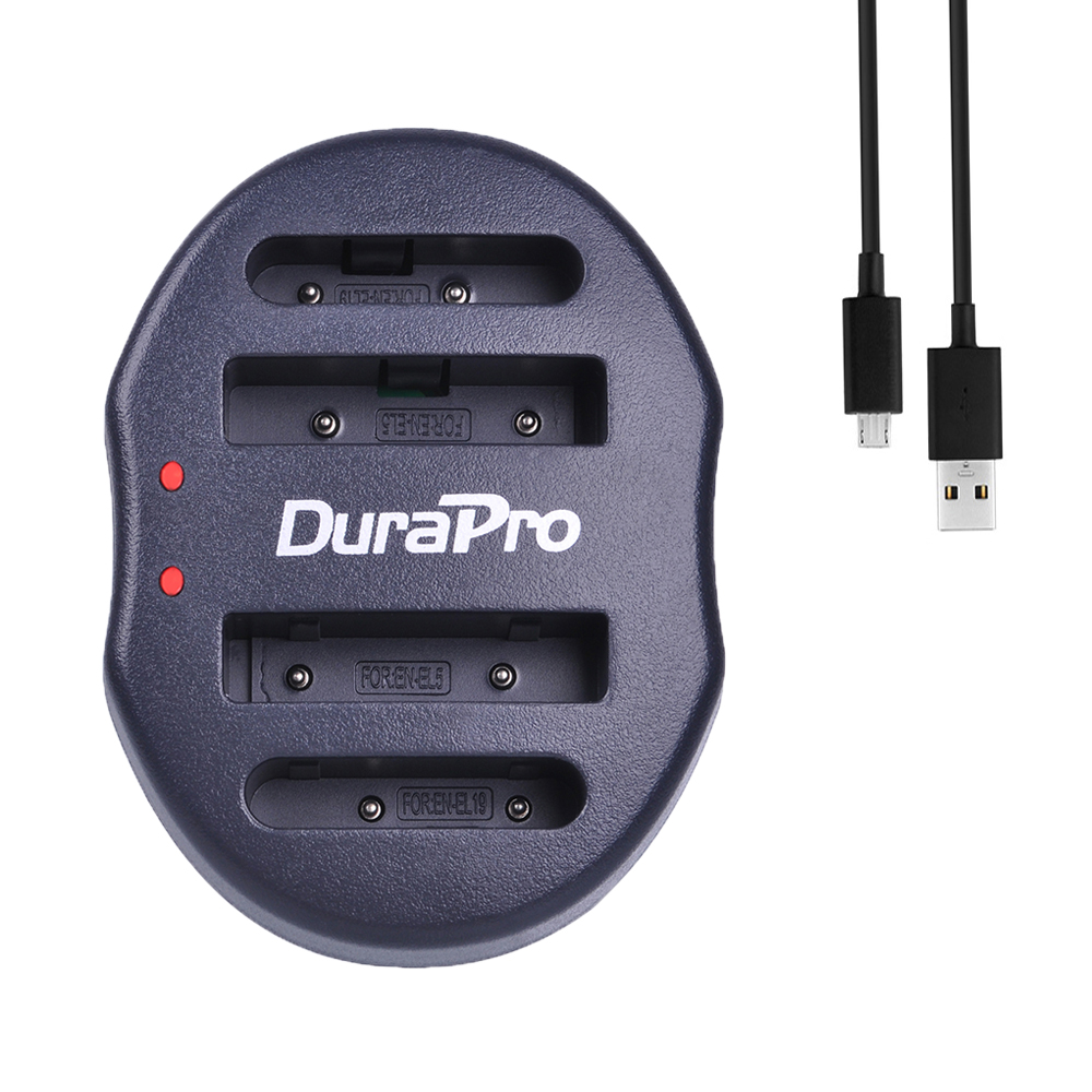 1pc Universal USB Dual Charger for For Nikon EN-EL5 EN EL5 EN-EL19 EN EL19 Coolpix P80 P90 P100 P500 P510 P520 S2500 S100 S3200 image