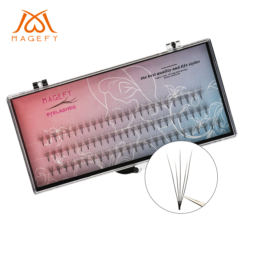 75 Pcs/lot 0.07mm C Curl Artificial Natural Long Individual Cluster Eyelashes Pro Makeup Grafting Fake False Eyelash Extensions