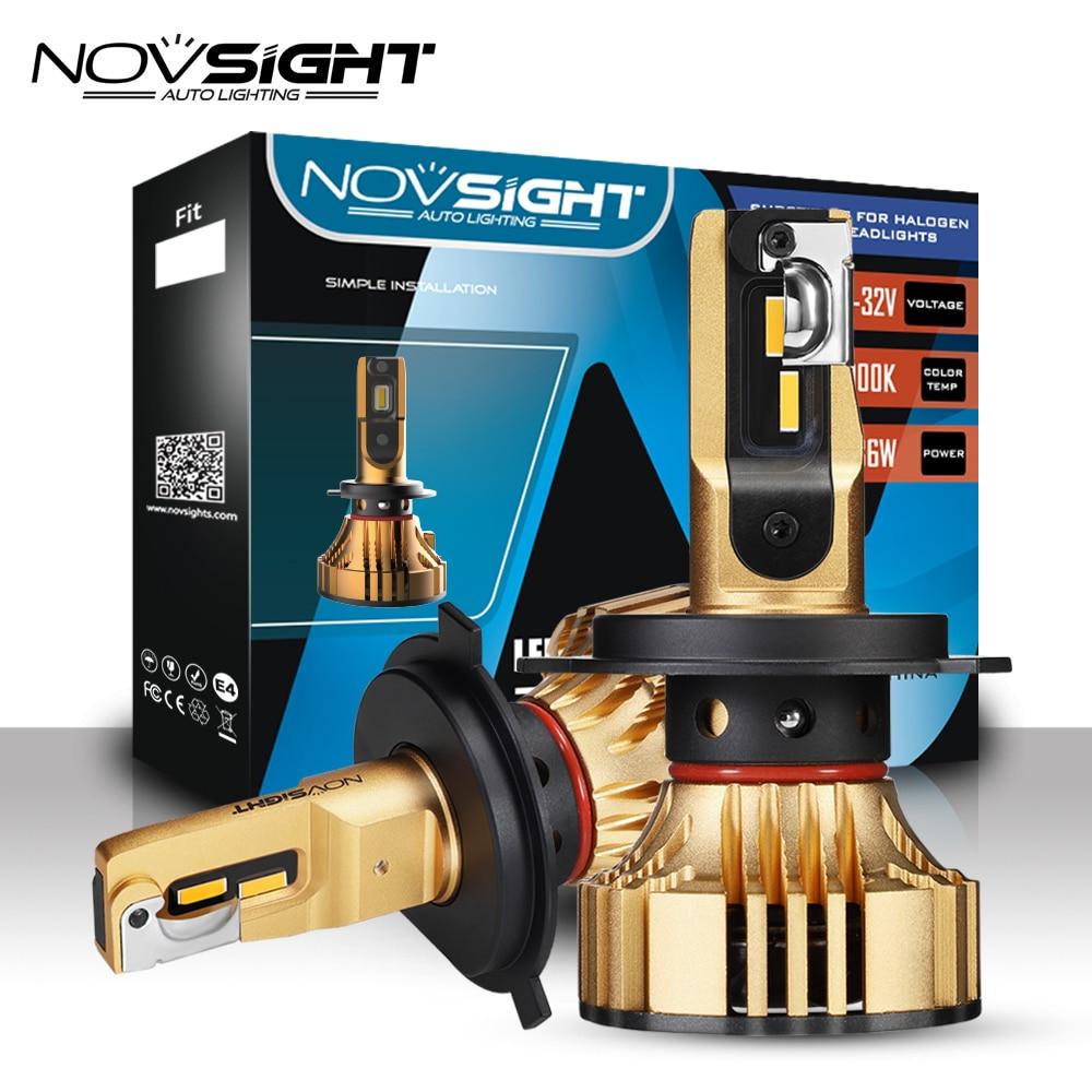 NOVSIGHT Voiture Led Phare Ampoules H4 LED H7 H1 H3 H11 H13 9005 9006 9007 72 w 12000lm Phare D'automobile led 3000 k D'or Jaune