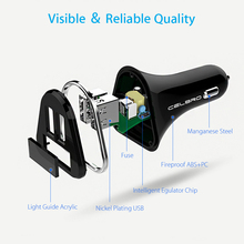 CelBro Dual USB LED Display Car Charger