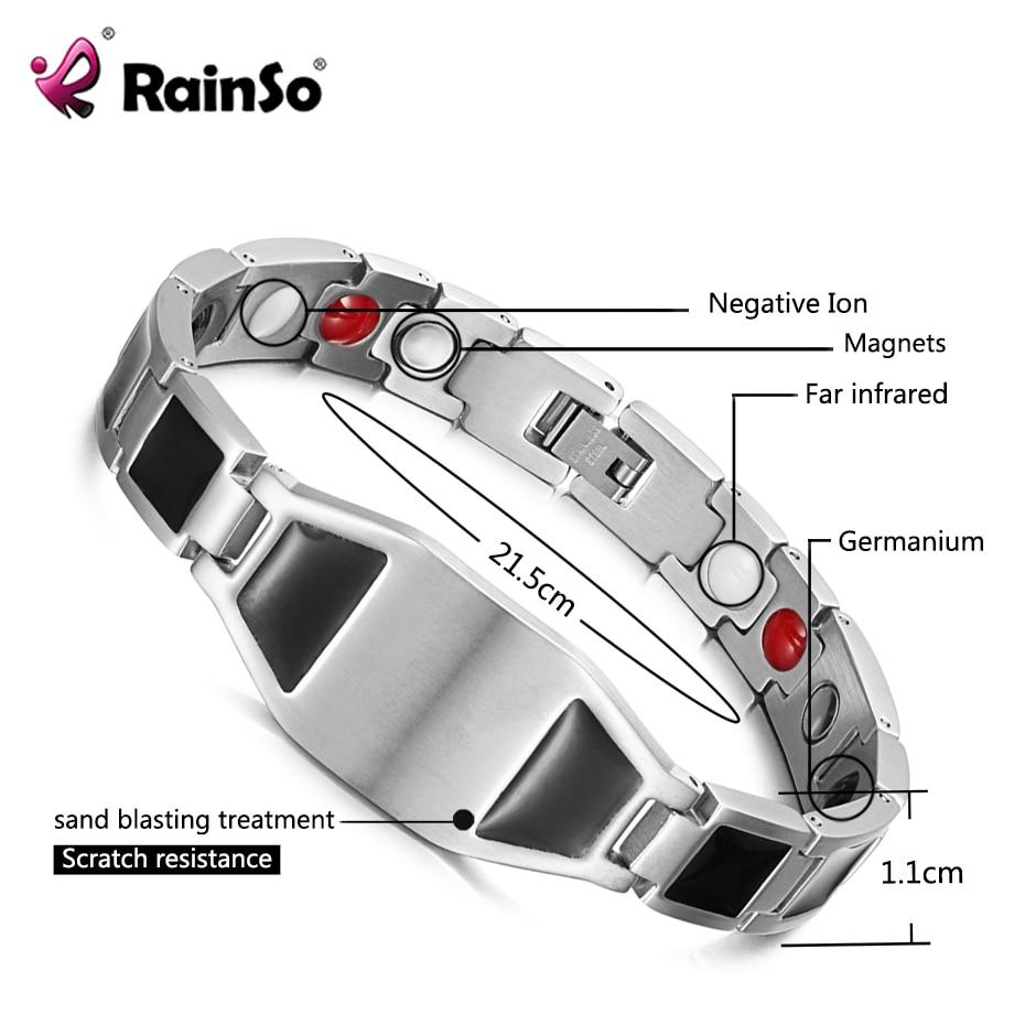 купить Rainso Personalized Jewelry Custom Greetings Bracelet Gift for Family Friend Health Magnetic Bangle for Arthritis недорого