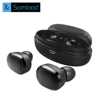 Samload Bluetooth Earphone With Mic Mini Touch Control Hifi Wireless Headset TWS Wireless Earbuds For Phone