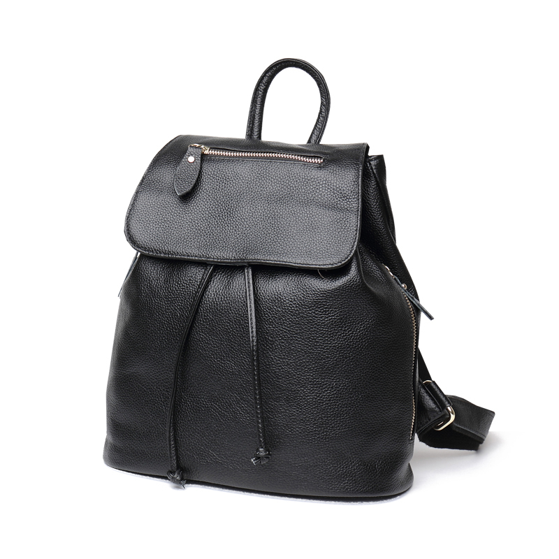 2016 new arrival genuine cowhide leather women's backpacks brief casual backpack famous brand head layer cowhide shoulder bag