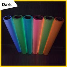 Brillan en la Oscuridad de la Prensa del Calor Camiseta de transferencia de Impresión de vinilo muti-colores para elegir 0.5×1 m