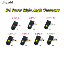 "Cltgxdd 90 תואר זווית ישרת 4.0/4.8*1.7 מ""מ DC כבל חשמל תקע זכר כבל טיפ הלחמת חריץ מחבר מתאם 2.1/2.5x5.5 מ""מ"