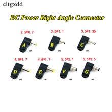 Cltgxdd 90도 직각 4.0/4.8*1.7mm DC 전원 케이블 남성 플러그 소켓 납땜 코드 팁 어댑터 커넥터 2.1/2.5x5.5mm