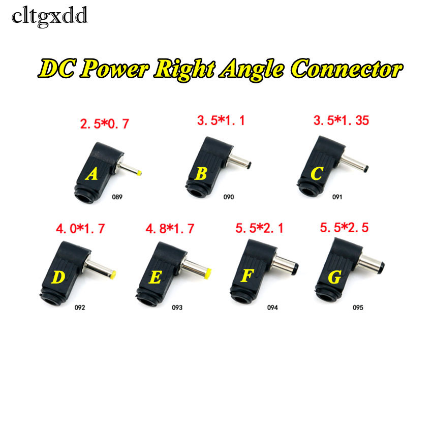 cltgxdd 90 Degree Right Angle 4.0/4.8*1.7mm DC Power Cable Male Plug Socket Soldering Cord Tip Adapter Connector 2.1/2.5x5.5mm-in Computer Cables & Connectors from Computer & Office