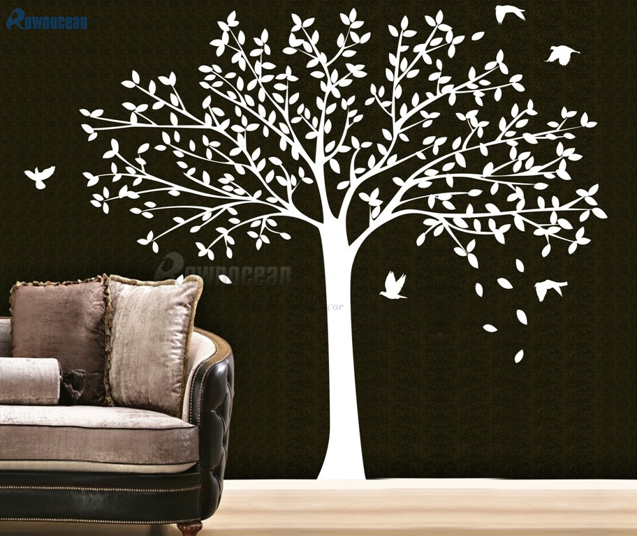 Large Family Tree Wall Decal Nursery Tree And Birds Wall Art Sticker Vinyl  Waterproof DIY Decoration Custom Mural T 06 In Wall Stickers From Home U0026  Garden ...