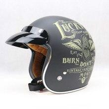 Топ Марка мотоциклетных шлемов в Старинные Шлем Ретро мотоциклетный шлем для велосипедов Harley мотоциклетный шлем chopper bikes
