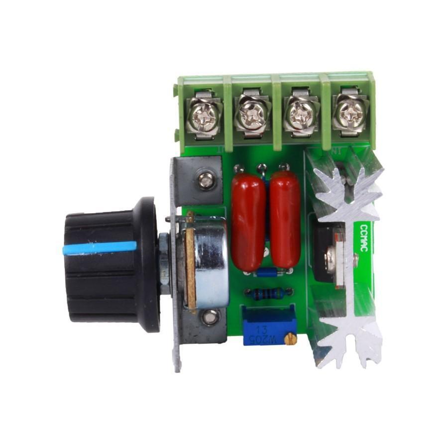 2000W Voltage Regulator AC 50-220V High Power Motor Speed Regulator Brushless Electronic Thyristor Dimmer Thermoregulation Plc