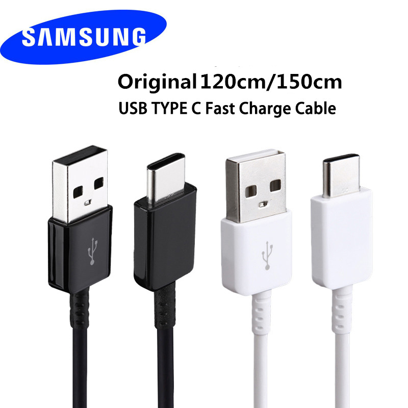 <font><b>USB</b></font> Type C <font><b>Cable</b></font> 2A Fast Charger Data 120CM 150CM Wire for <font><b>Samsung</b></font> Galaxy S8 <font><b>S9</b></font> Plus Note8 C5 C7 C9 Pro S8 Active A3 A5 A7 2017 image