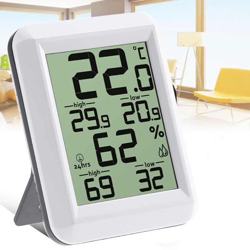 Digital Room LCD Thermometer Electronic Temperature Humidity Meter Hygrometer Weather Station Indoor Weather Station ut330a ut330b ut330c datalogger temperature humidity atmospheric pressure ip67 waterproof weather station export thermometer