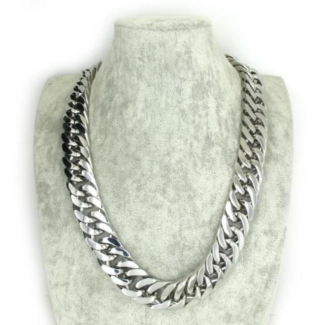 Huge&Heavy Size 60*2.1cm Men's Jewelry, Solid Silver Curb Twist Chain Double Links Necklace Rock Biker Stainless Steel Hot !!
