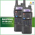 2 pcs original vhf uhf dual display 8 w/4 w/1 w longo alcance poderoso baofeng uv-5r além de rádio em dois sentidos com fone de ouvido