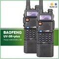 2 unids original vhf uhf dual display 8 w/4 w/1 w de largo alcance de gran alcance baofeng uv-5r plus radio de dos vías con el auricular