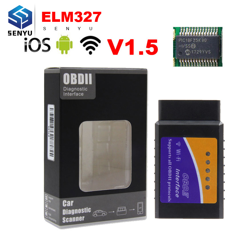 Aktiv Elm327 V1.5 Wifi Bluetooth Usb Pic18f25k80 Chip Obd Obd2 Diagnose Code Reader Scanner Ulme 327 V1.5 Obd2 Für Android/ Ios/pc