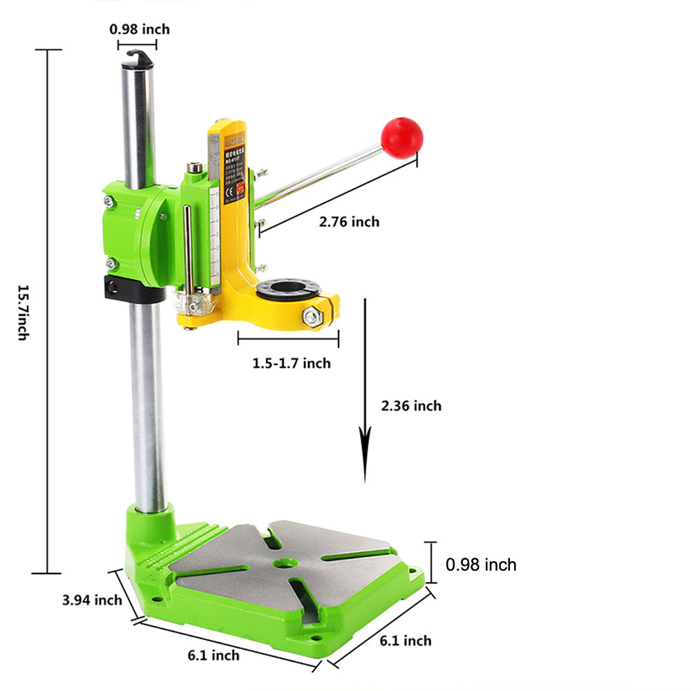 Image 3 - AMYAMY Electric power Drill Press Stand table for Drills Workbench Clamp for Drilling Collet 35 43mm 0 90 degrees ship from USA-in Power Tool Accessories from Tools