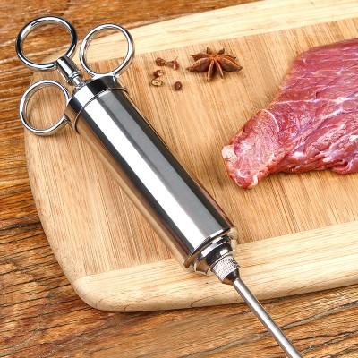 050 Kitchen tool 304 stainless steel seasoning syringe Turkey steak barbecue seasoning red wine syringe meat injectors in Meat Injectors from Home Garden