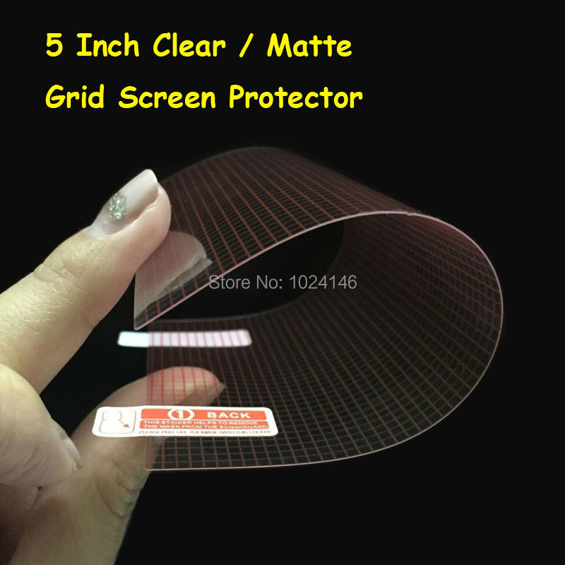 5 Inch - 6.5cm X 11.5cm Universal HD Clear / Anti-Glare Matte LCD DIY Grid Screen Protector Protective Film For 5