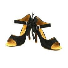 YOVE w121 1 Dance Shoes Flock Women s Latin Salsa Dance Shoes 3 5 Slim High