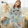 Spring Autumn Thick Warm Pajamas Long Sleeved Maternity Loose Casual Clothes Pregnant Women Postpartum Lactation Clothes