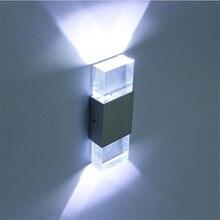 6 ワット Led ウォールライト浴室ライト高品質アルミケースクリスタルシャッドテレビ設定廊下階段バー Ktv 壁ランプ