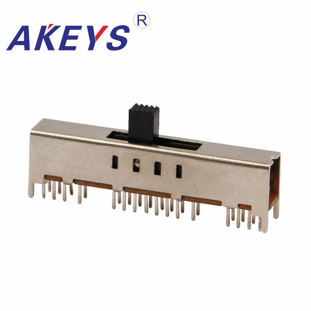Fine Ss-48d01 4p8t Four Pole Eight Throw 8 Position Slide Switch 32 Pin Dip Type With 4 Fixed Pin Handle Heights Can Be Customized Switches Lighting Accessories