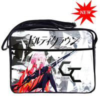 Fashion Designer Guilty Crown PU Messenger Bag Waterproof Students Shoulder Book Bags Travel Crossbody Bags